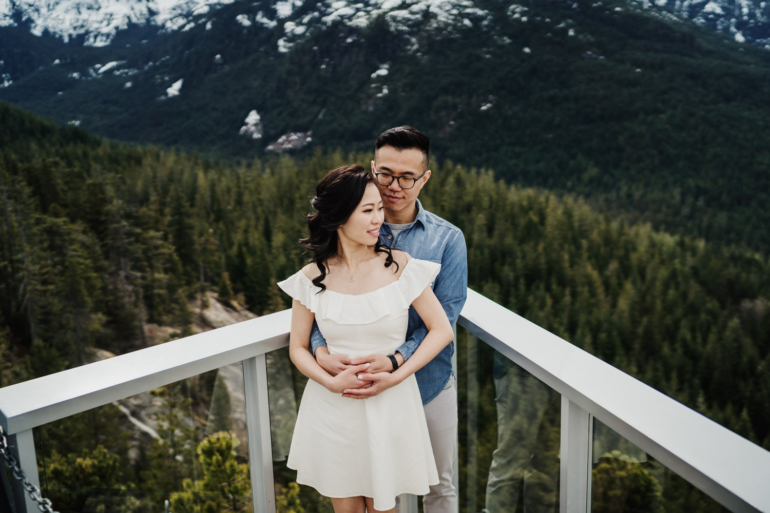 sea to sky gondola engagement photography trails squamish bc