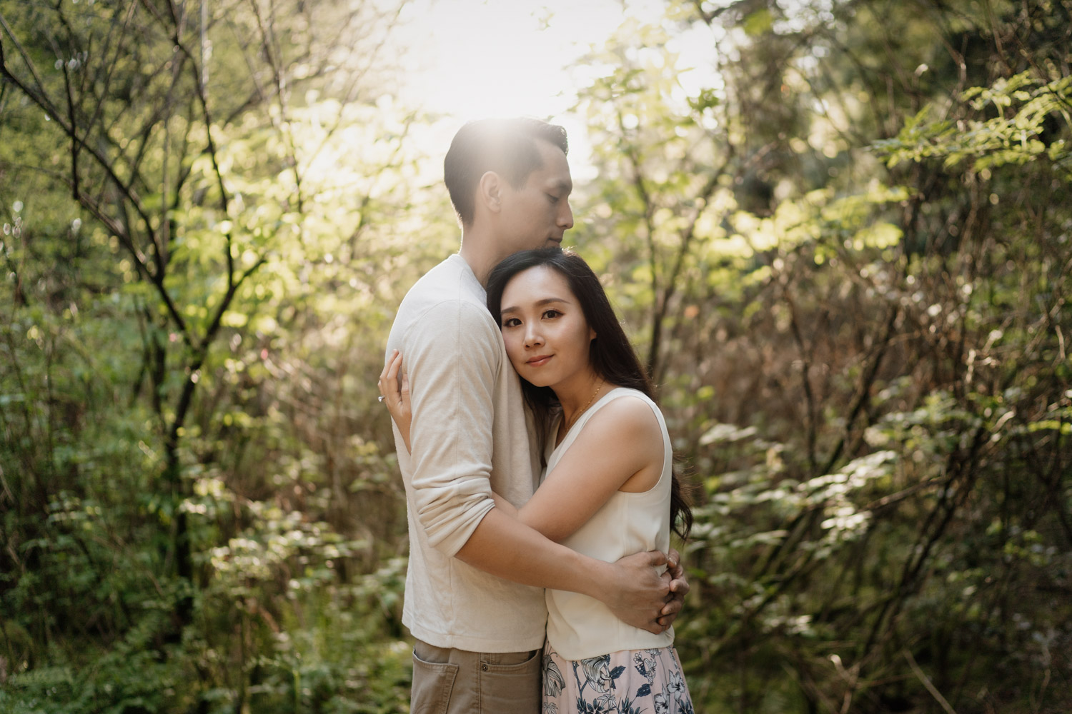 prospect point stanley park in vancouver bc engagement photographer