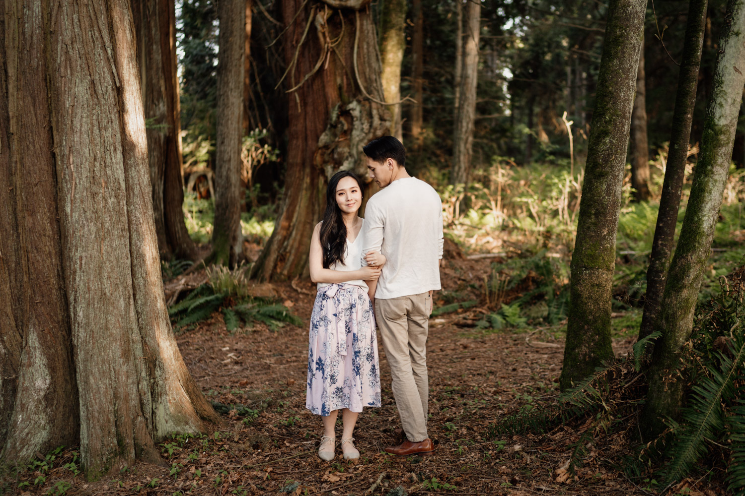 stanley park engagement photography forest prospect point vancouver bc