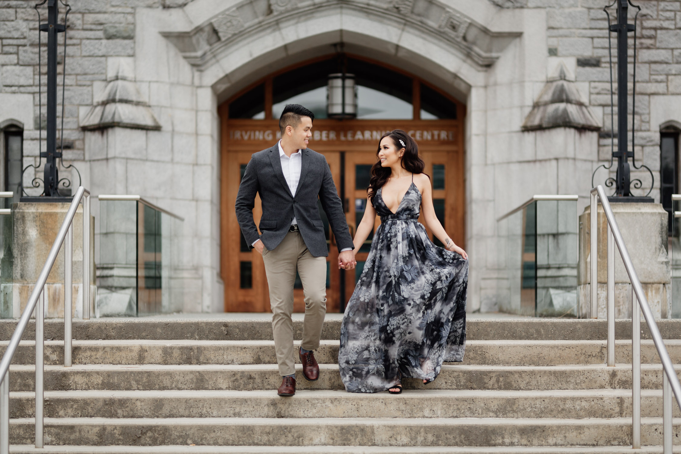 irving k. barber learning centre engagement photography at ubc vancouver
