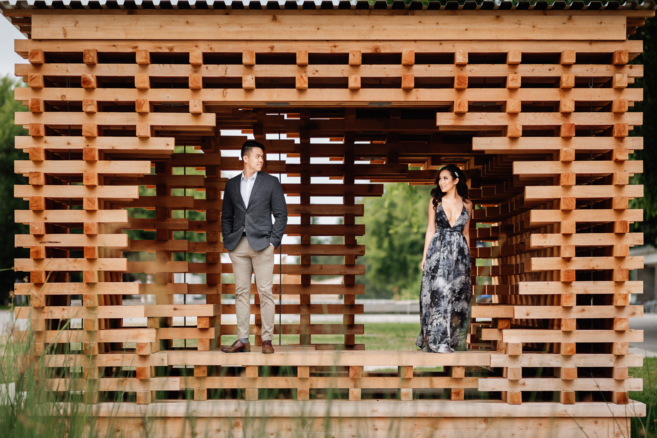 ubc engagement photography during summer in vancouver bc