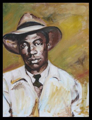 A painting of Chinua's grandfather