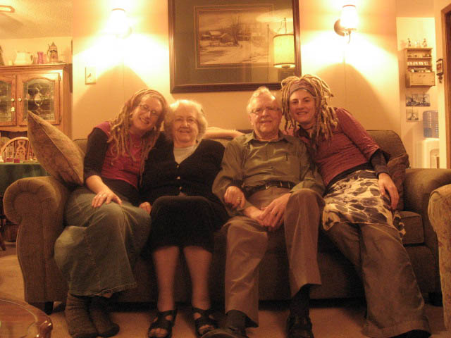 Visiting Grandma when she was sick