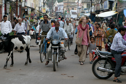 12 Rae walking in Varanasi.jpg