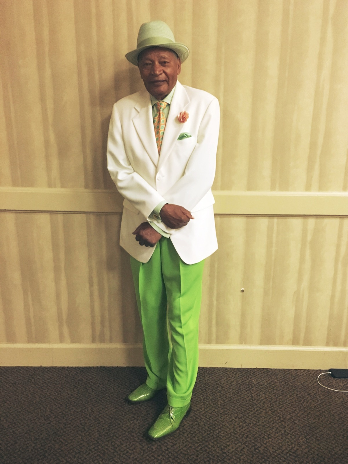 Chinua's very well-dressed Great Uncle Bo, one of the elders of the Bragg family.