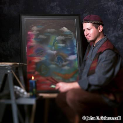 Mauricio Arcesio in a Santa Barbara, CA Studio session.