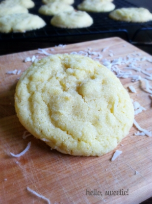 chewy coconut sugar cookies | hello, sweetie!