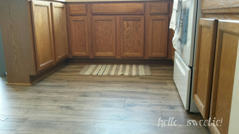 new flooring but old cabinets