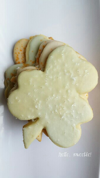 sweet shamrock cut out cookies, for luck!