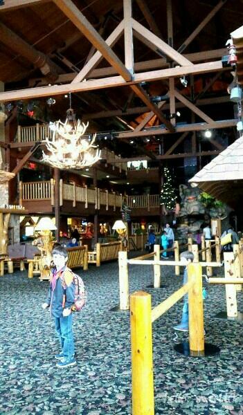 the expansive lobby on the main floor