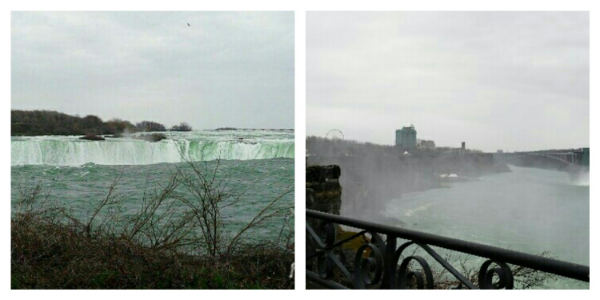 Niagara Falls, the Canadian view is spectacular, even in rain!