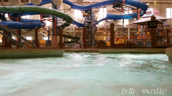 view from the adults only hot tub! just below is the family hot tub and to the left is the lazy river!
