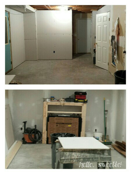 drywall made it seem instantly finished, but smaller!