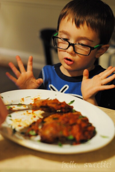 even the little guys get excited about braciole!