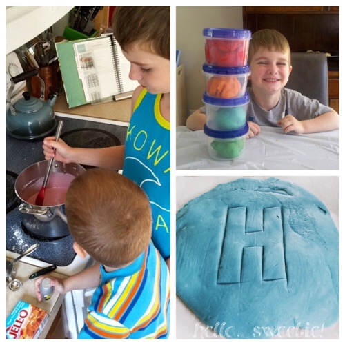 making playdough over the years, they always look forward to being involved!