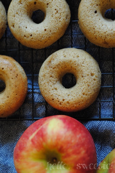 adding reduced apple cider in the batter gives these spiced donuts even more concentrated flavor