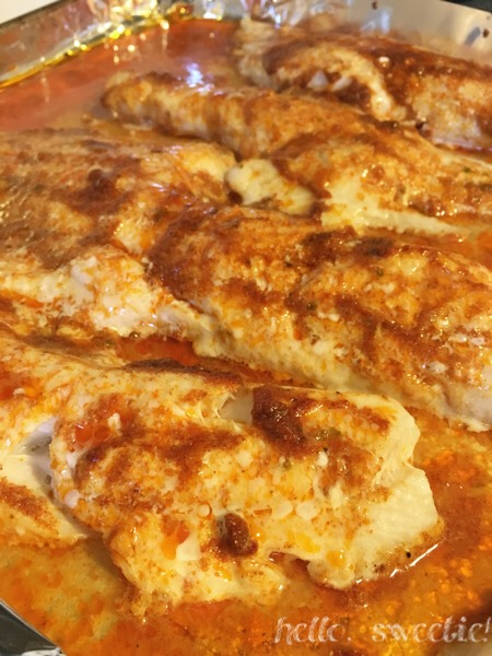 oven baked spiced Haddock