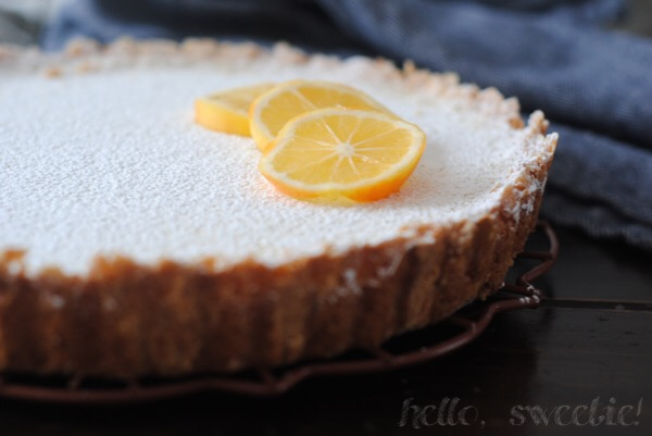 meyer lemon tart with shortbread crust