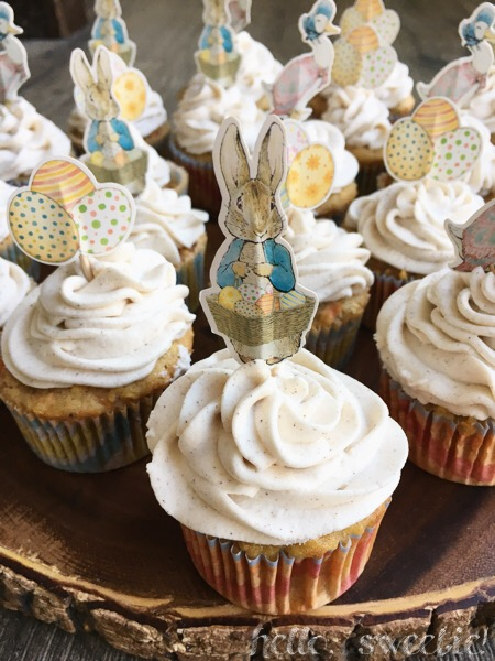 Carrot & Apple Cupcakes: adding whomsical wrappers or decorations brings a smile to anyones face.