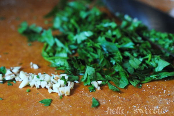 Fresh chopped parsley and garlic are simple additions for big flavor.