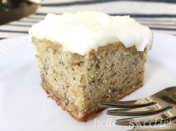 Old Fashioned Banana Cake with Cream Cheese Frosting