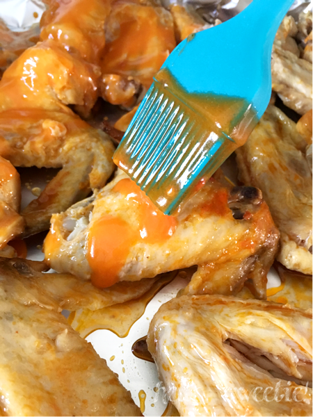 Be sure to brush the buttery wing sauce into all those nooks and crannies!
