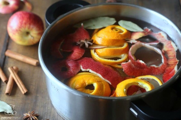 Simmer pots don't have to be newly picked ingredients. The most scented parts are the skins which are most often discarded. (Image credit: www.mommypotamus.com)