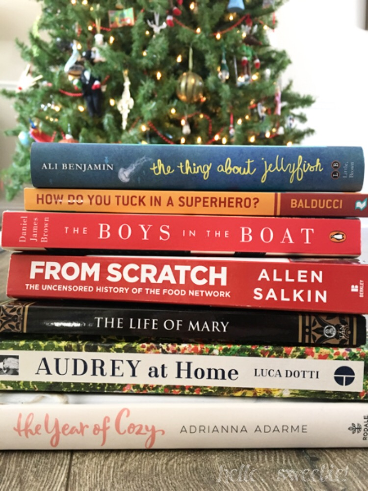 I've been staring at this stack of books since Christmas 2016!
