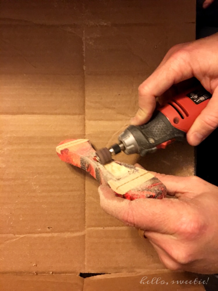 Avoid sawdust flying all over your home by trying to contain it in an open cardboard box.