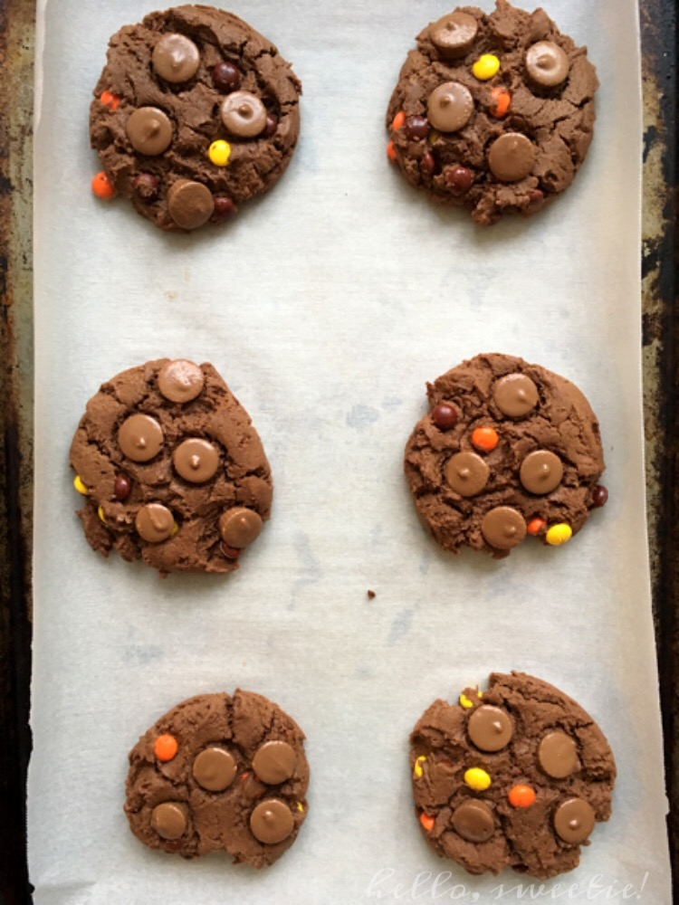 Chocolate Peanut Butter Cookies: sweet and salty, soft but not chewy, perfectly satisfying.
