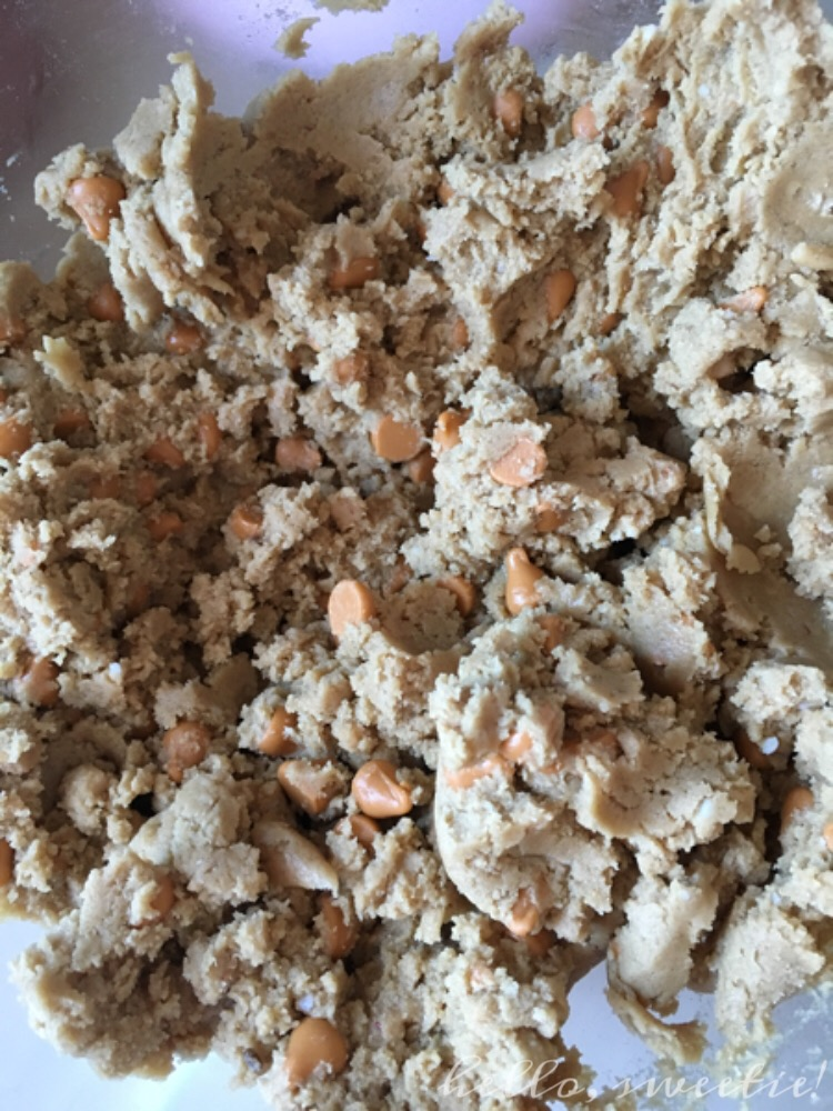 This cookie dough is delicious in its own right! But try to restrain yourself… the reward is worth the sacrifice.
