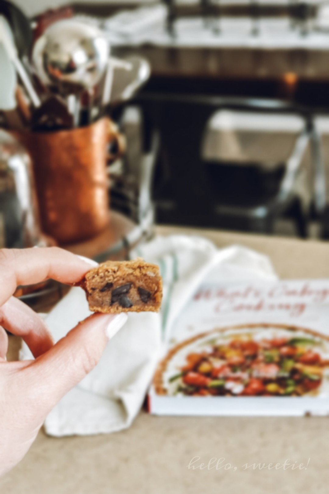brown butter chocolate chip cookie squares