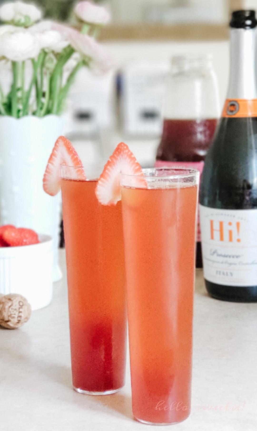 strawberry beet prosecco