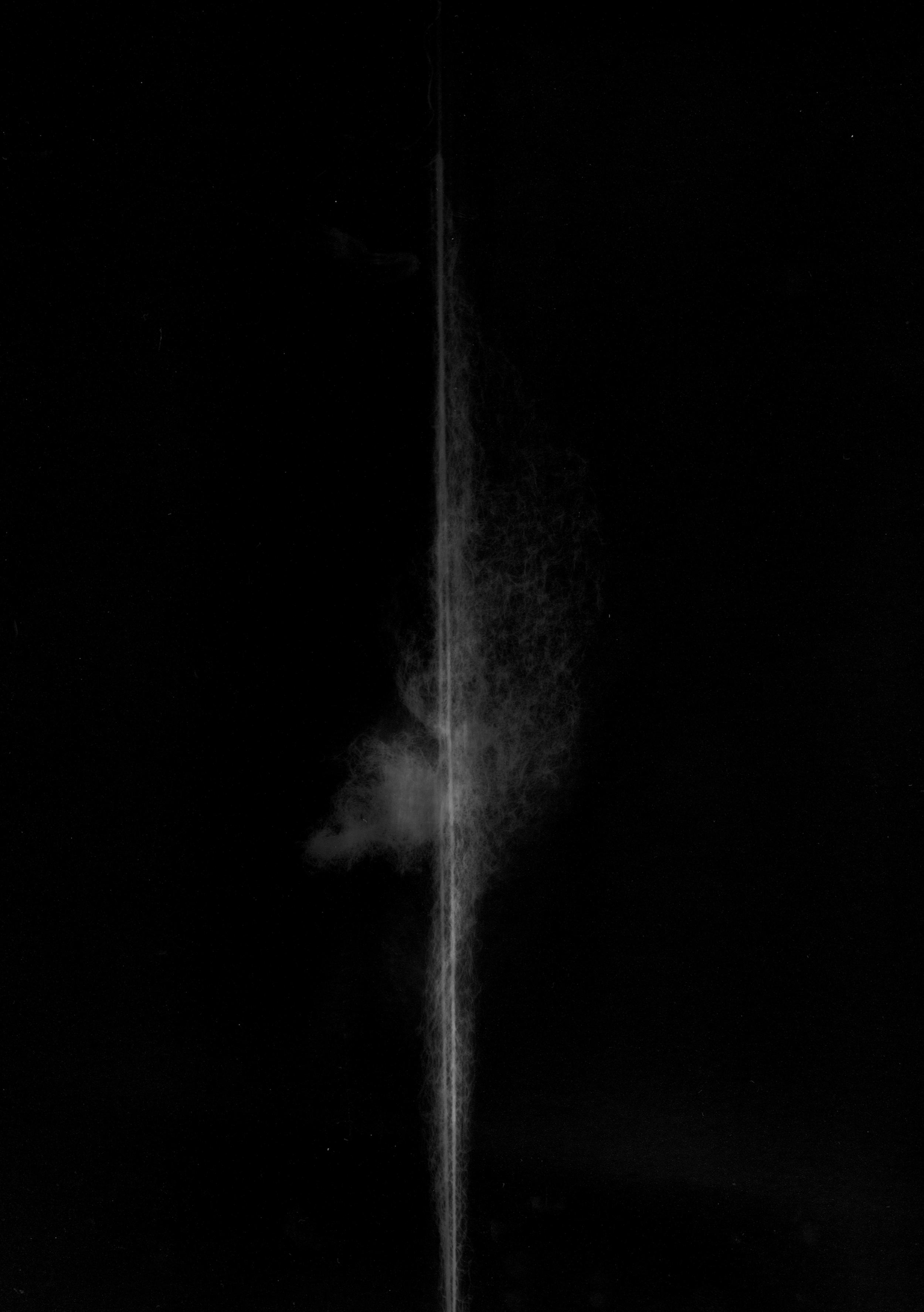 'Chronology of Breath'  photogram, 30 x 40 cm