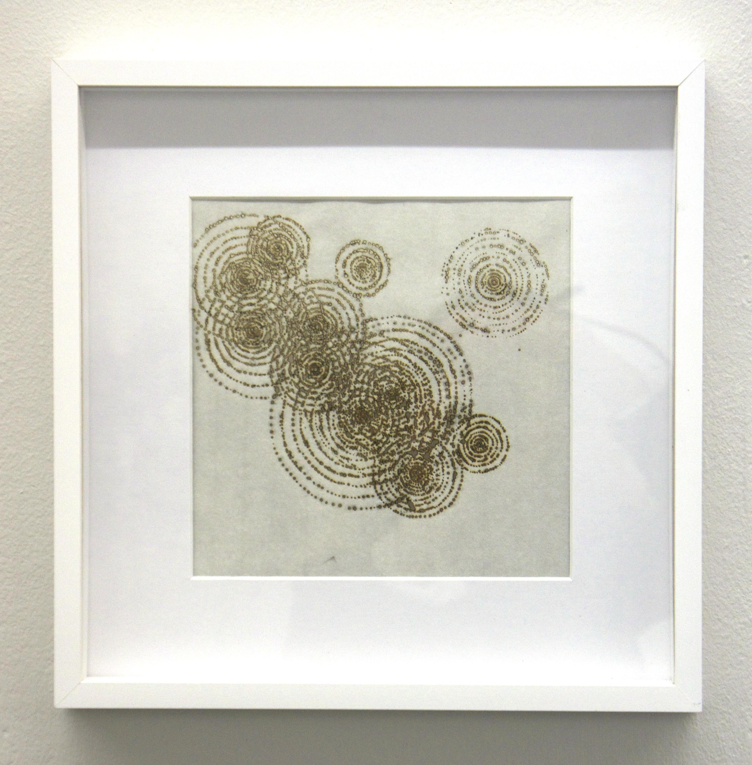 'Raindrops', incense burnt rice paper, 30x30 cm