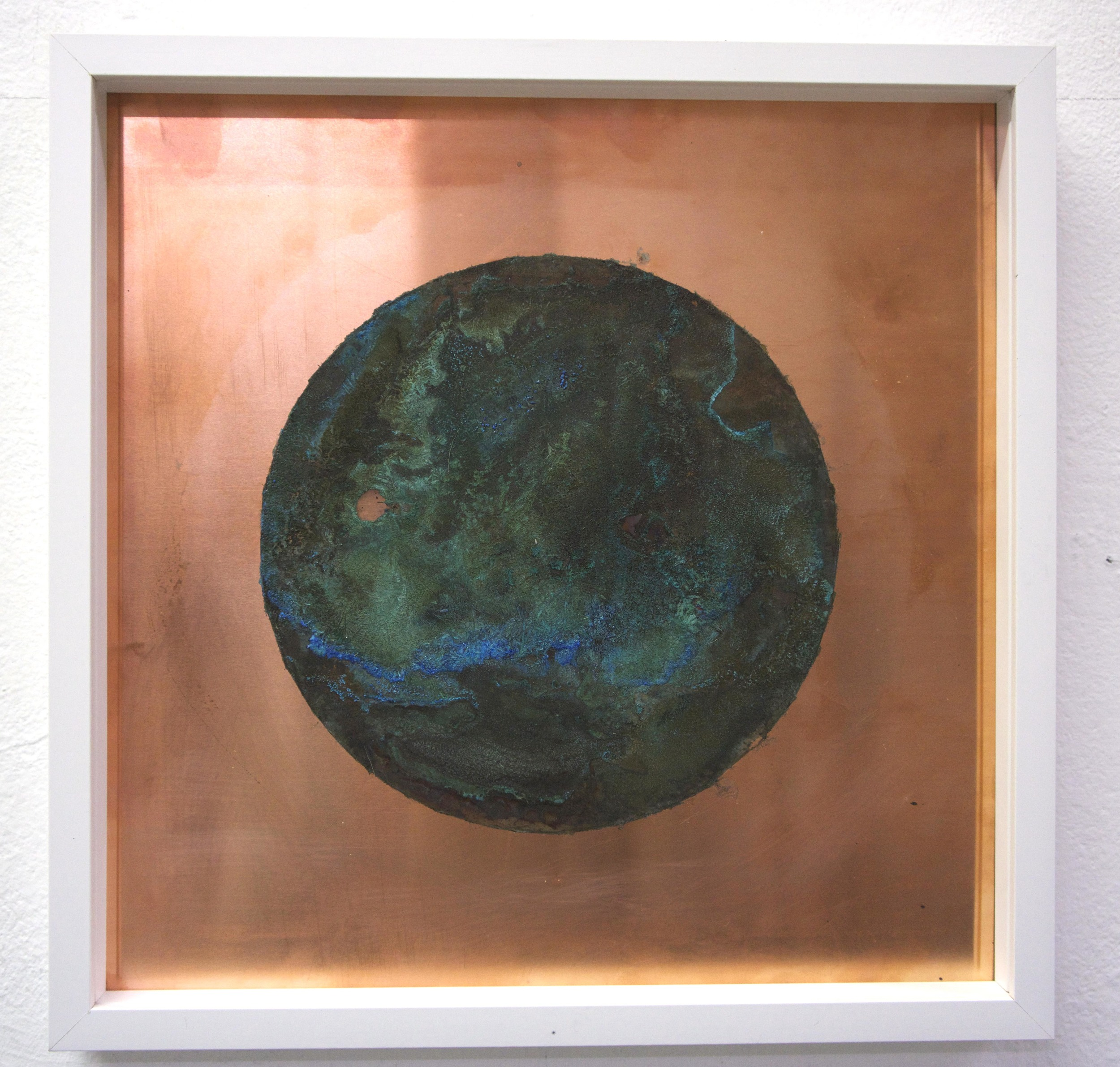 Copper and Ammonium chloride, 30 x 30 cm