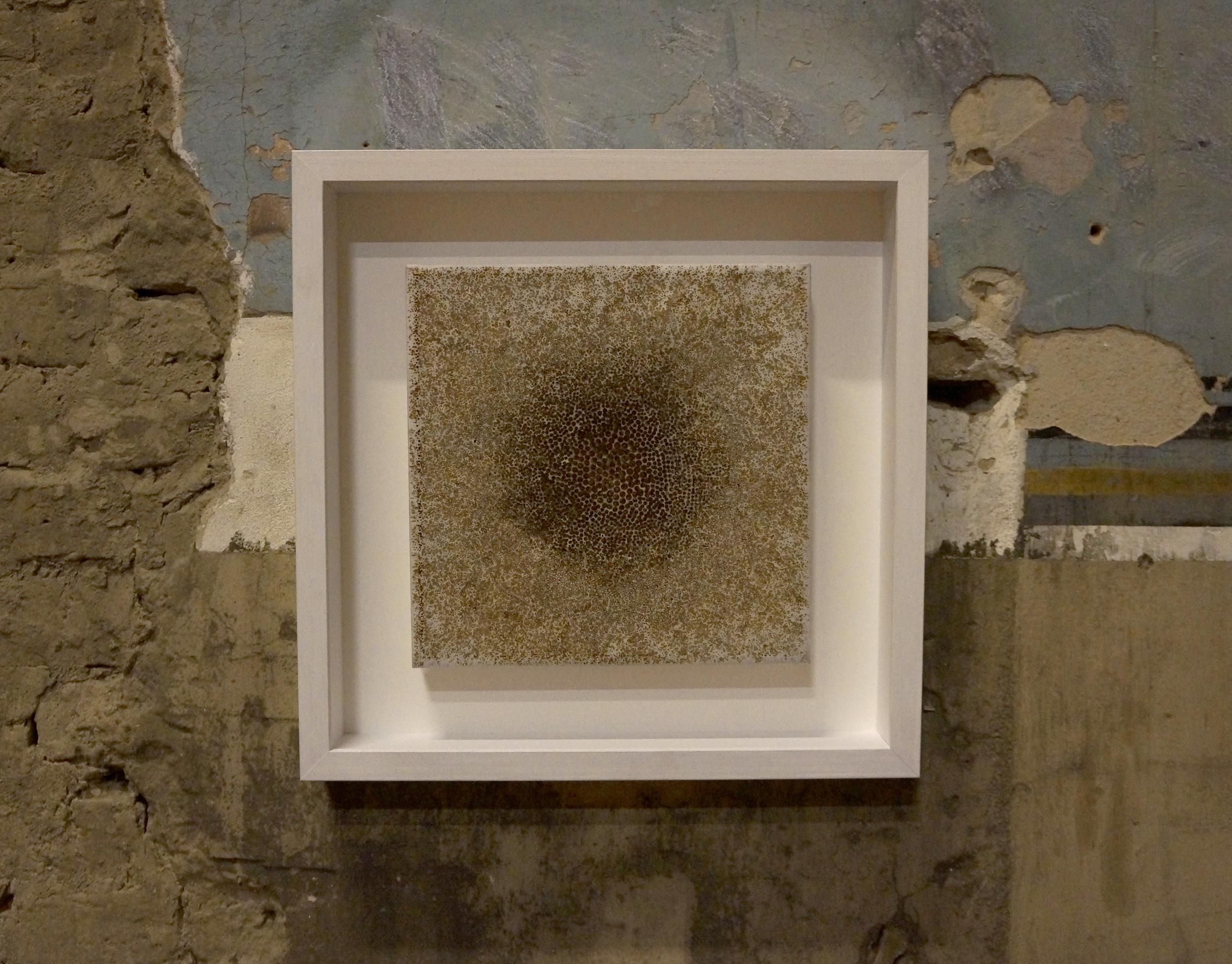 'Perception II', three layers of incense burnt rice paper, 30 x 30 cm