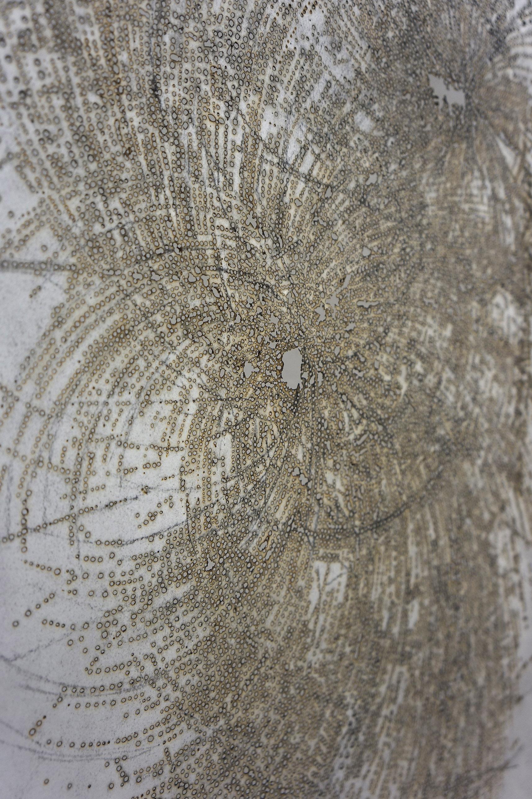 Detail of Whorl, incense burnt rice paper