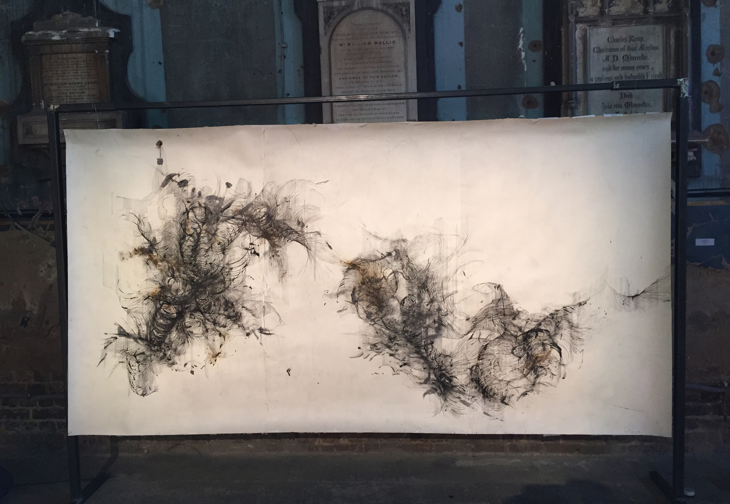 installation shot of 'Anatomy of thought IV' in the Asylum exhibition 'IN-TRA'