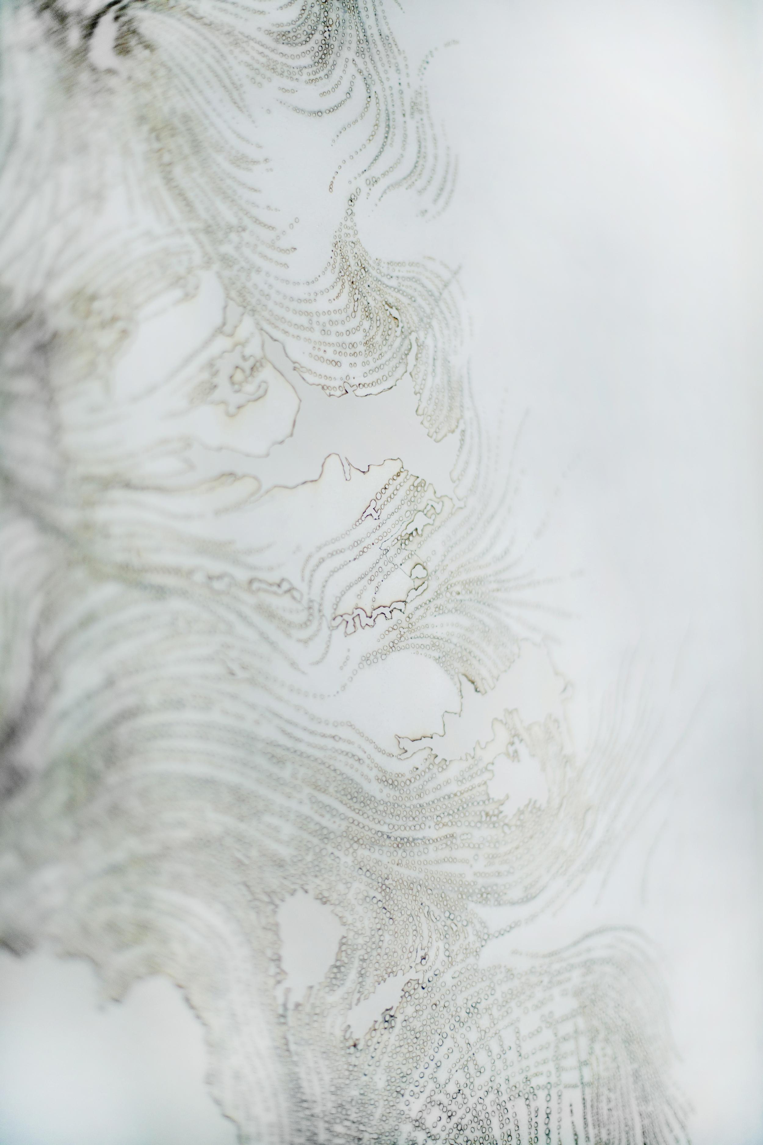 Detail , incense burnt rice paper