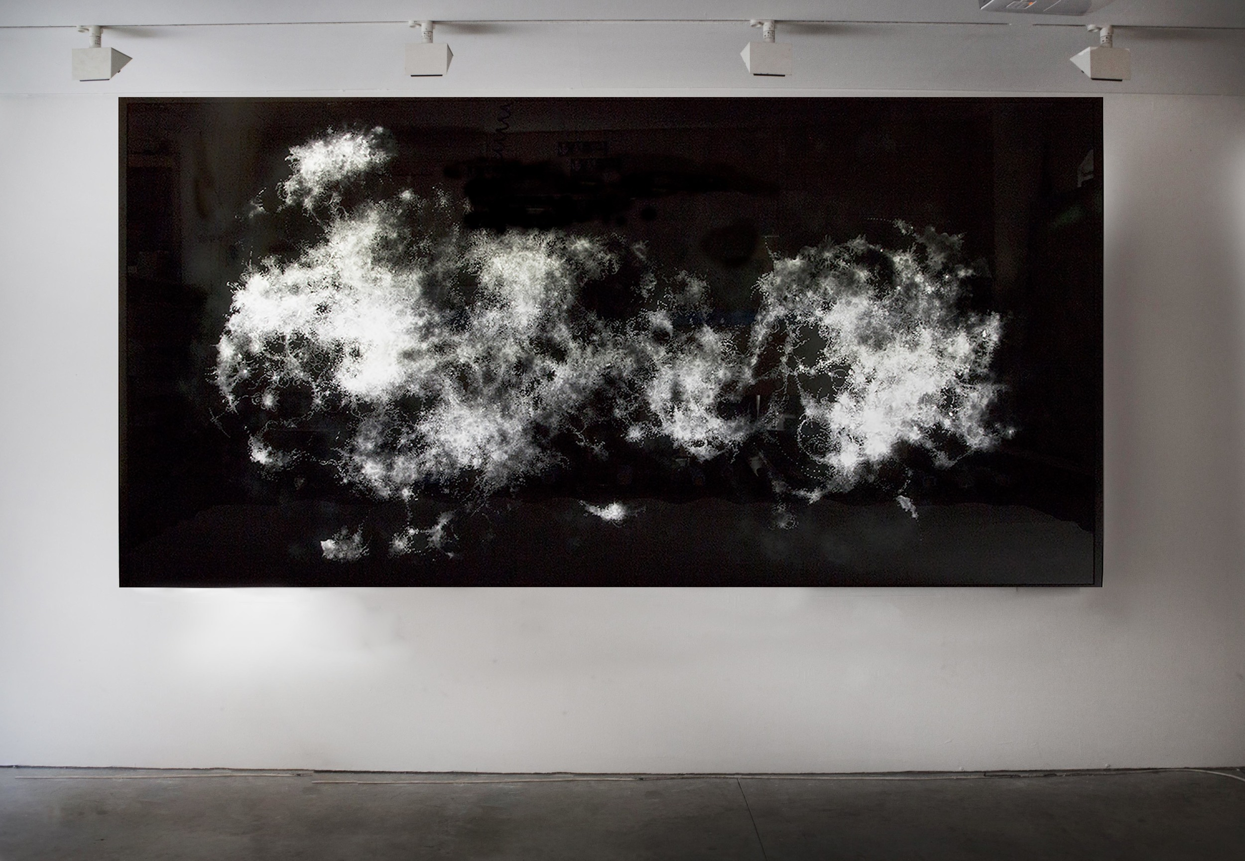 Two layers of printed perspex over light box , 300 x 150 cm