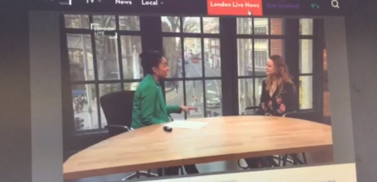 London Live News,  Live interview about my upcoming show 07/04/16