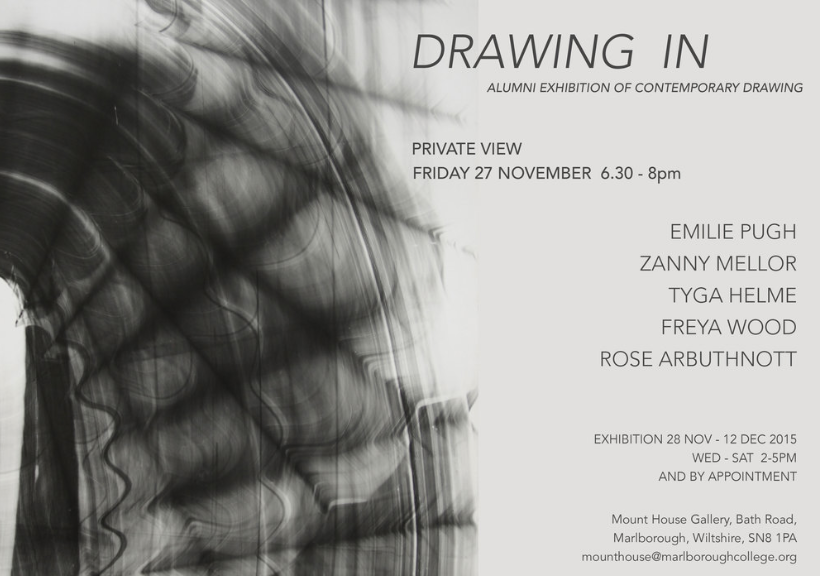 Group Exhibition 'Drawing In'  Mount House Gallery 27/11/15-12/12/15