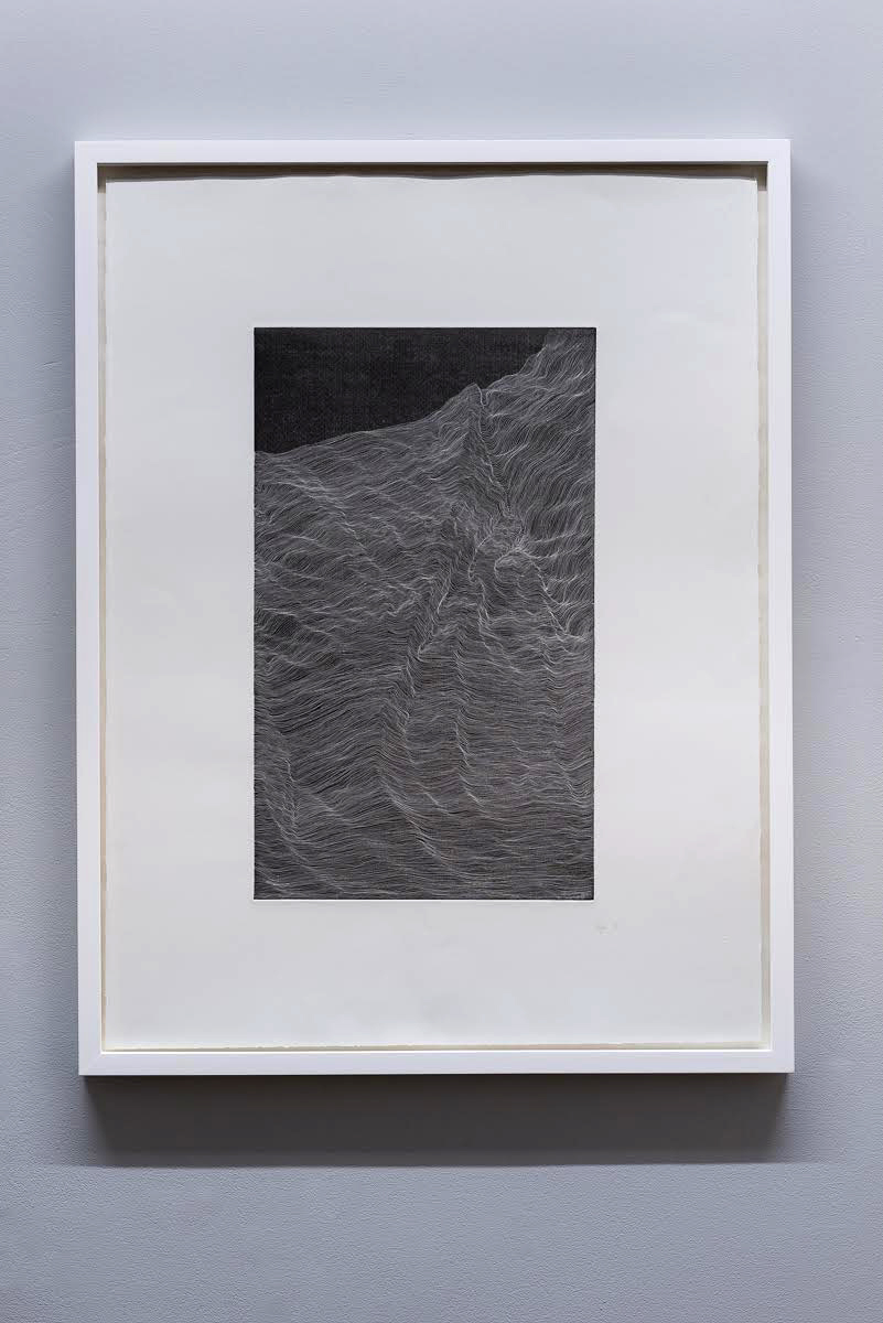 'Topology' (Black) , copper plate etching, 62 x 82 cm , (2016)