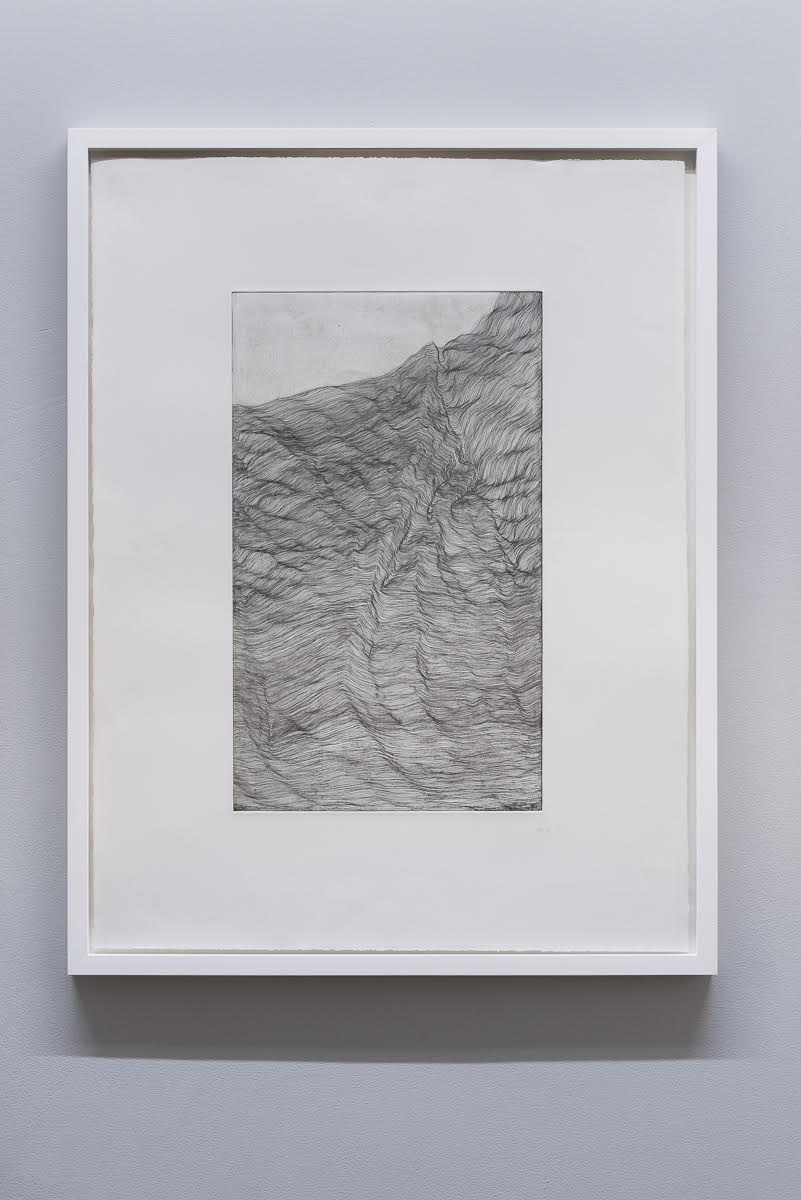 'Topology' (white) , copper plate etching, 62 x 82 cm , (2016)