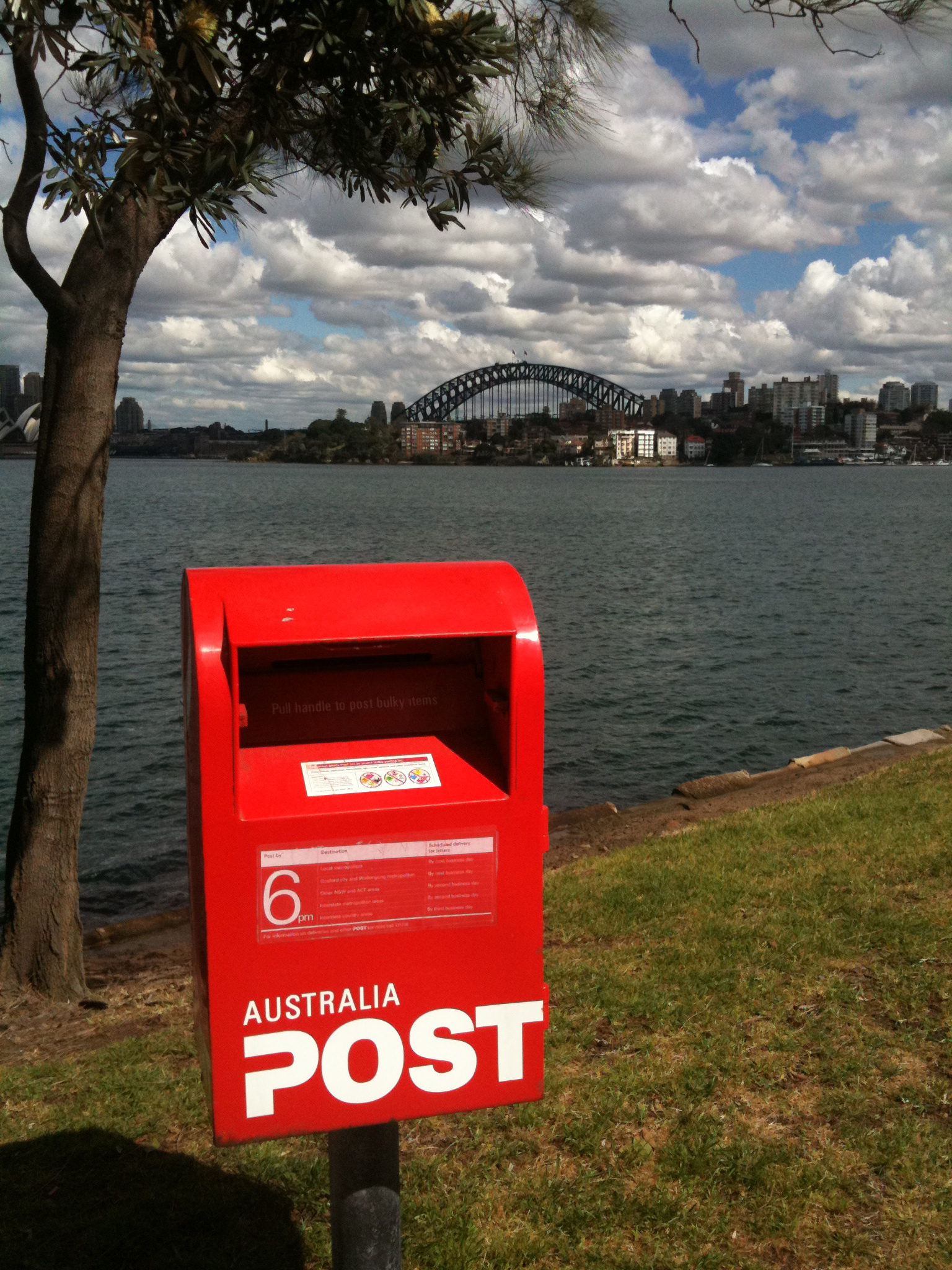 Why bother with a postcard? The view is enough...