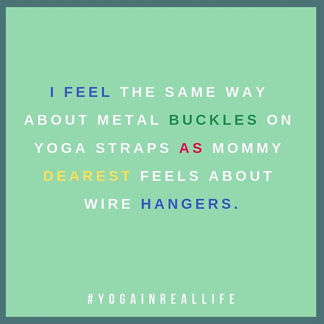 Seriously the sound  of a strap's metal buckle hitting the floor is like nails on a chalkboard .  No more wire hangers!  No more metal buckles! #mommydearest #nowirehangers