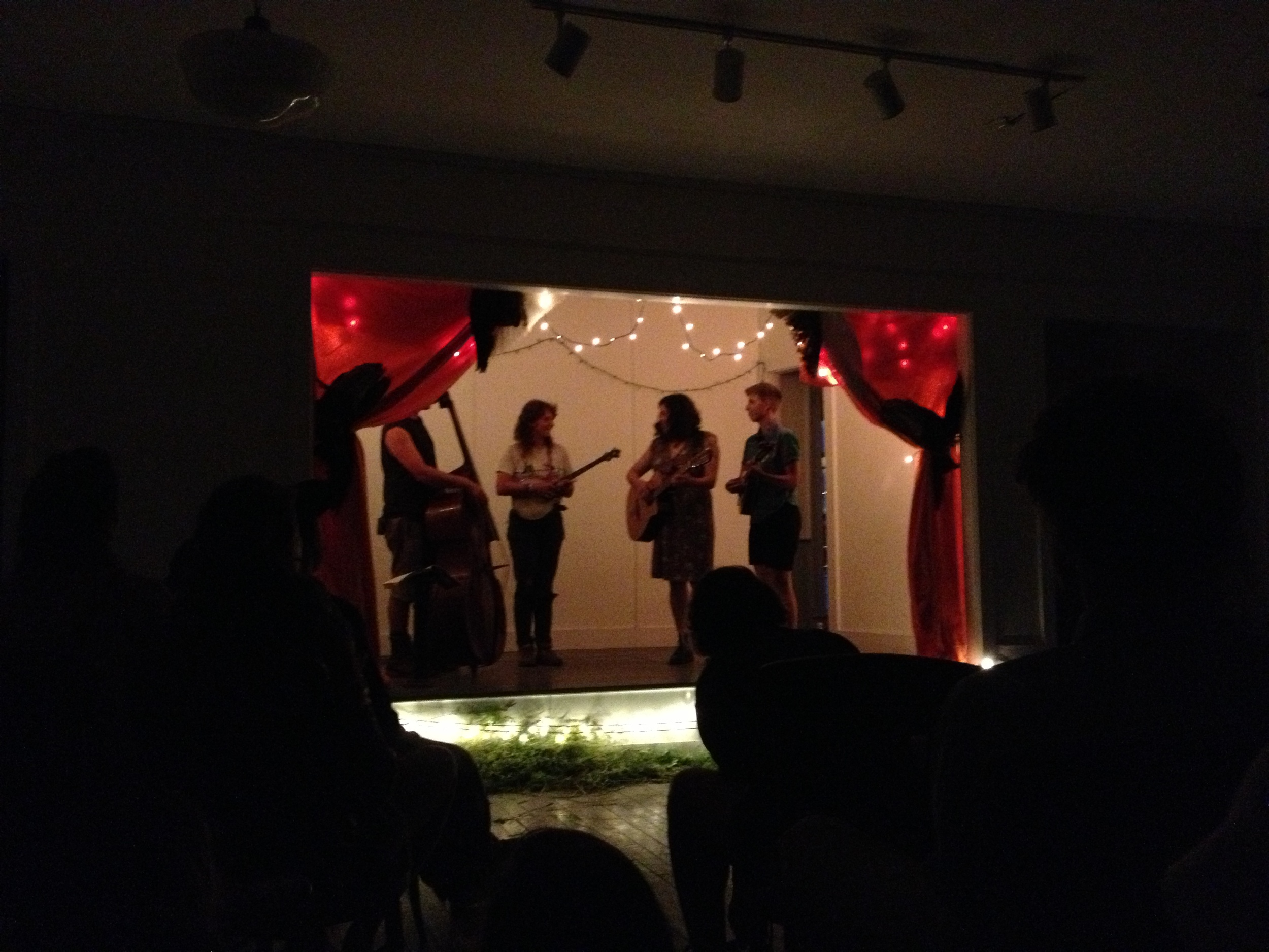 After dinner, we went back upstairs for some great farm-inspired spoken word from Tess, followed by some great old-timey string band music from  Pocatello , full of farmers from the Hudson Valley.