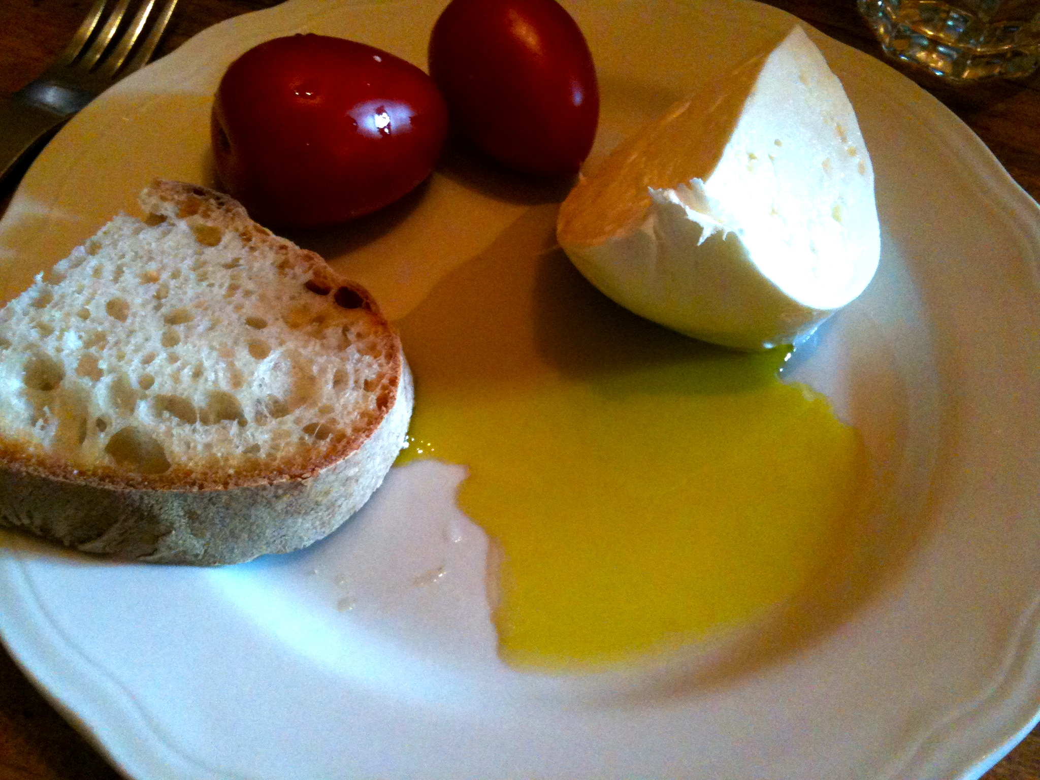 Aforementioned buffala mozzarella and first press olive oil