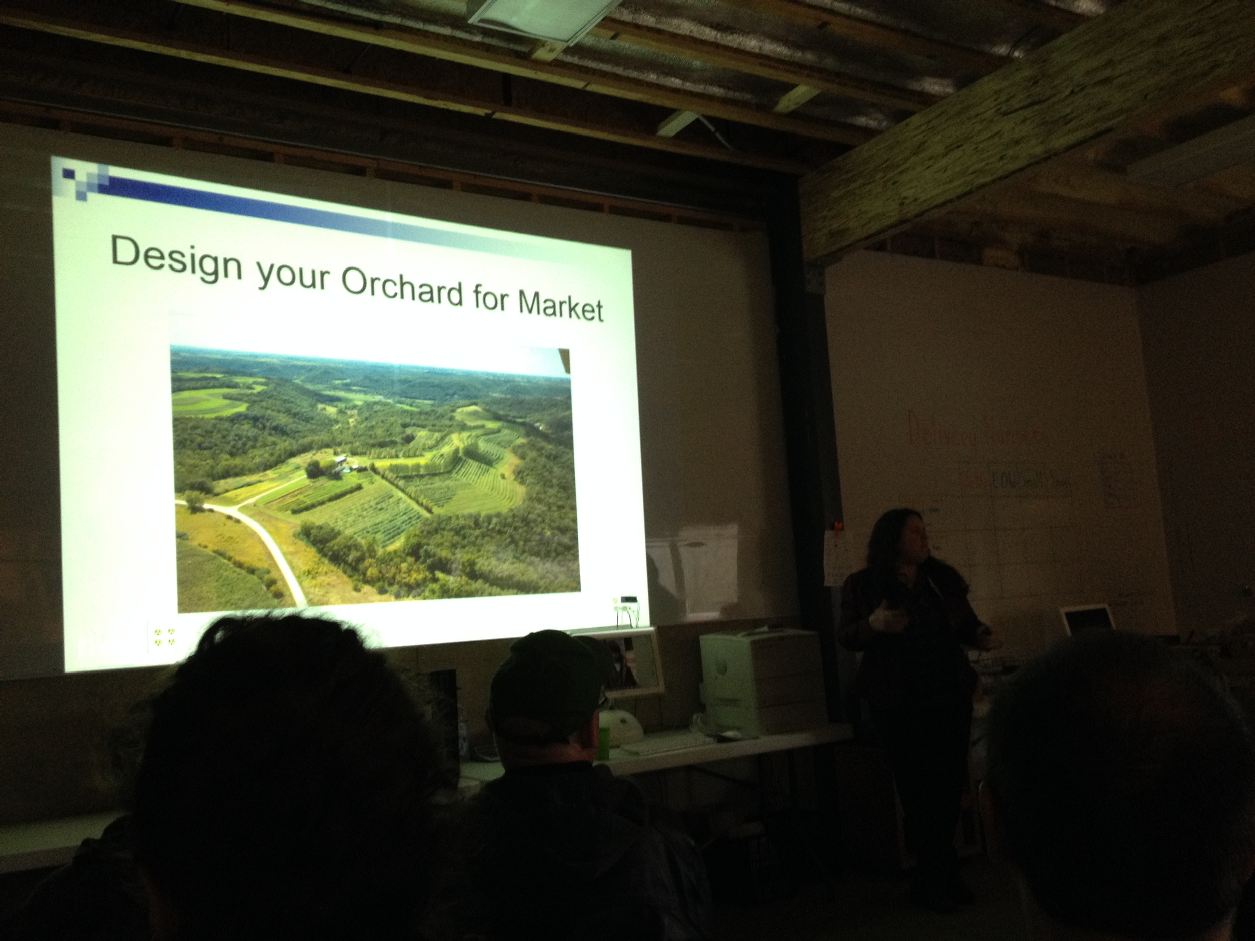 Jackie Hoch gave a great workshop on planning your orchard for market